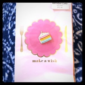 Happy Birthday Card with Cake Pin